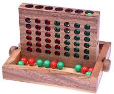 Vier in einer Reihe Viererreihe Bingo 4 Strategiespiel Holz mit Kugeln - 2. Wahl
