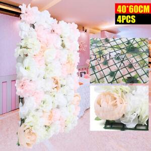 4x Künstliche Blumenwand Rosenwand Hochzeit Straße Hintergrund DHL DE