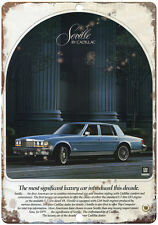 "Cadillac Seville Blue 10"" x 7"" Reproduction Metal Sign"