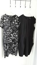 TWO LOVELY BLACK /IVORY DRESSES SIZE 14 MELA LOVES LONDON/COLLECTION LONDON