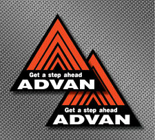 "2x Advan Racing 5"" Decal Sticker Fender Size GTR R34 JDM DRIFT RALLY Type R Logo"