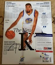 KEVIN DURANT signed autographed SPORTS ILLUSTRATED MAGAZINE G.S WARRIORS w/COA