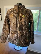 Under Armour Camo Realtree Xtra Scent Control Hunting Jacket Mens Size L