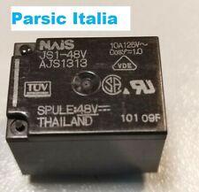 Relè NAIS JS1-48V AJS1313 RELAY bobina 48 Vdc PCB MOUNT 10A 5 PIN (QTY: 1 PEZZO)