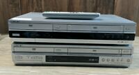 Lot of 2 Sony DVD/VHS Combo Player Parts or Repair Only (SLV-D261P & SLV-D350P)