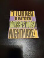 """""""I Turned Into Bowser's Worst Nightmare!"""" NES Insert NES game insert rare OOP"""