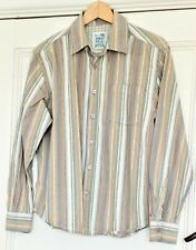 Fat Face Striped Long Sleeved Shirt Size Medium