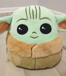 "New 10"" Squishmallows Baby Yoda Disney Star Wars Mandalorian The Child Rare"