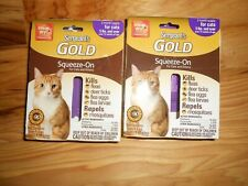 Lot of 2 =6 mth supply Sergents Gold Flea and tick squeeze on cats/kittens NIP