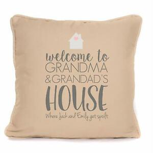 Personalised Welcome to Grandma and Grandad's House Cushion Gift For Granny