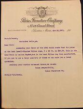 M Original 1901 Paine Furniture Company Letterhead