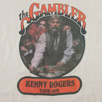 New! Rare! 1979 Kenny Rogers The Gambler Tour T-Shirt Size S to 4XL PP653