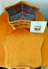Longaberger Christmas Collection~2001~Shining Star Basket~Combo Mint Cond