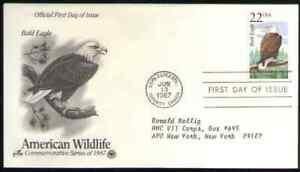 US. 2309. 22c. Bald Eagle, N. American Wildlife. ArtCraft FDC. 1987 -1