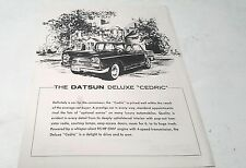 1964 DATSUN DELUXE CEDRIC   Sales Leaflet