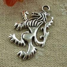 free ship 120 pcs tibetan silver rampant lion charms 38x21mm #2702