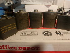 4 VINTAGE MILITARY BORE CLEANER TIN CANS GUN SUPPLIES ARMY COLLECTABLE