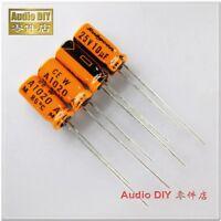30pcs Nichicon orange old KL 100uF//10V low leakage electrolytic capacitor