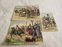 (5) Vintage Military Maurice Toussaint Postcards (Pre-Owned)