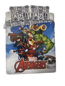 Avengers Double Duvet Quilt Cover & Pillowcase Set Endgame Infinity War Marvel