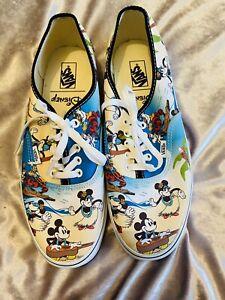 Brand New Men's Disney Vans Mickey Mouse Pumps Lace Up Shoes UK Size 10 *Rare*