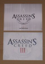 Assassins Creed I + III Postcards Art Cards Ubiworkshop Limited Collectors Set