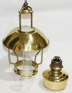 Vintage 1996 Weems & Plath DHR Clipper Lamp Brass Nautical Oil Lamp 8207/O