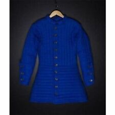 Thick Padded Blue Gambeson Medieval Armour Theater Custome Sca Play Movies A1