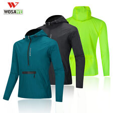 Mens Cycling Hooded Jacket Sports Hoodies Windstopper Running MTB Jersey Tops