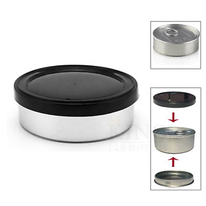 100mL 3.5g Self Seal Tin Can Pop Top Black Lid Tuna Easy Open Ring NoToolsNeeded