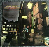 LP DAVID BOWIE  Ziggy Stardust - VINYL ALBUM GREEN RCA LABEL INTS 5063 EX/VG