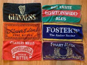 SIX USED BAR TOWELS ASSORTED