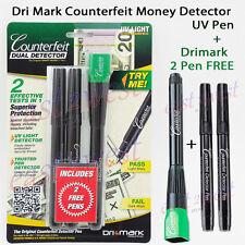 Dri-mark Smart Money Counterfeit Detector UV Led Light Pen + FREE Dri-mark 2 Pen
