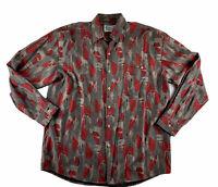 Men's Vintage Colourways Long Sleeve Pattern Shirt Size L - XL Made In Australia