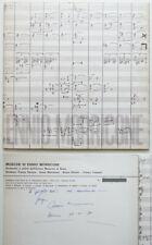 Raro Ennio Morricone Autografato Signed Doppio LP General Music 1979