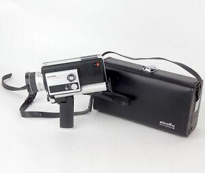 Vintage Minolta Autopak-8 D4 Super 8 Movie Camera Zoom 9.5-38 1.8 Lens, Case