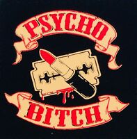 PSYCHO BITCH (662) patch psychobilly rockabilly punk rock meteors demented are
