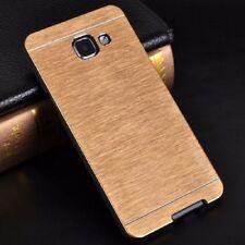 Custodia Custodia Rigida Alluminio Oro oro D'oro per Samsung Galaxy A3 2016