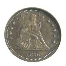 elf Seated Liberty Quarter 1876 Breen 4082 Unc Details/net AU55  ANACS