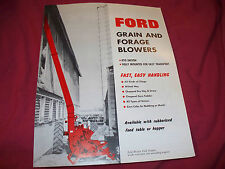 1960 Ford Grain & Forage Blower Brochure Nice
