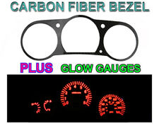 White Face Red Glow Gauge + Carbon Fiber Bezel For 03-06 Nissan 350Z Z33 Z JDM