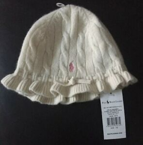 Genuine Ralph Lauren Girls Wool Hat Size One Size: Brand New With Tag Super Cute