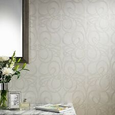 Graham and Brown Jazz White Wallpaper Hang Dry From The Roll And Save Time New