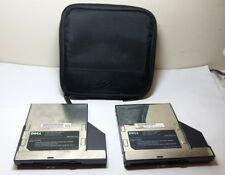 "2 Dell Floppy Disk Drive Modules Type 3.5"" 1.44MB w/ Case P/N 4702P A01 09YXE"