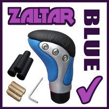 Cromo Azul Palanca de Cambios Cuero Perilla Manual Selector