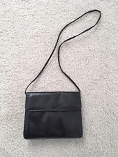 Etra Vintage Purse Thin Shoulder Strap or Clutch Black Leather