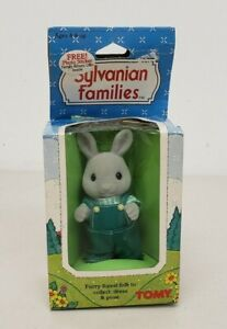 Vintage 1985 Epoch Tomy Sylvanian Families Rocky Babblebrook Rabbit Bunny New