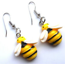 Gorgeous handmade bumble bee earrings with gift bag