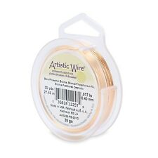 Artistic Wire Bare Phosphor Bronze 26 gauge 30 yds 43232 Round Can be Patinaed