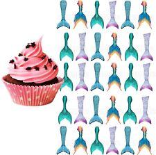 Meerjungfrau Flosse Monofin Party Deko Geburtstag Tortenaufleger Muffin neu lila